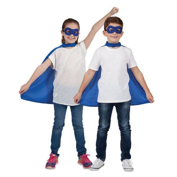 Childs Super Hero Cape - Blue